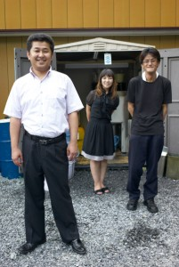 Tomohiro Kashiwagi, his wife Akiko, and his sole employee, Murakami.