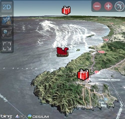 NORAD tracking Santa as he makes his rounds.