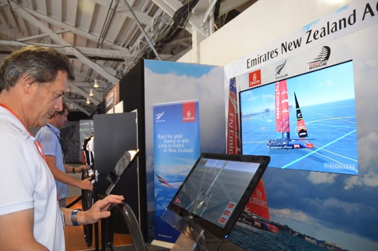Hands on: if you're watching the America's Cup in San Francisco, you can get a little hands-on time with a virtual boat.