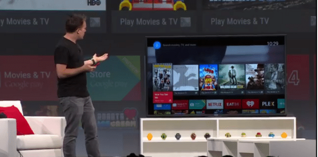An elegant interface, for a move civilized age: Google's Dave Burke shows what Android TV can do.