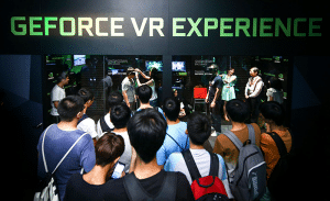 Taiwan Gamers packed into the GeForce VR Experience.