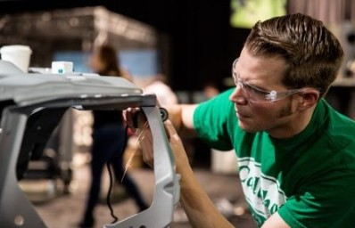 Dave Anderson working on a Camero at at GTC 2015