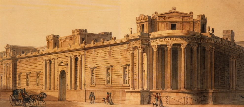 Soane's Bank of England: View of the Tivoli Corner (1807). Image courtesy of the Trustees of Sir John Soane's Museum.