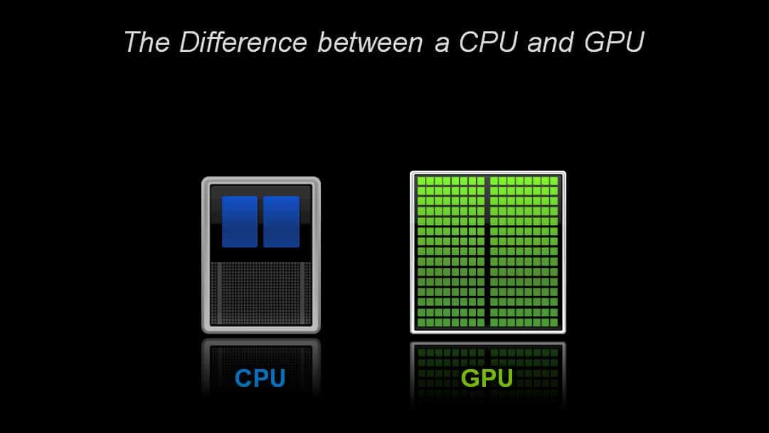 What s the difference between a cpu and a gpu the official
