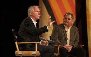 James Cameron Vince Pace talk 3D filmmaking at NAB 2012.