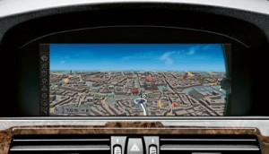 BMW's new wide-screen infotainment system.