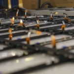 Rows of parts were ready to be assembled into Phoenix devices.