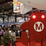 The Maker Faire's mechanical mascot presided at the event's main pavilion.