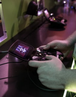 Gamers flocked to NVIDIA's booth for a chance to get their hands on SHIELD.