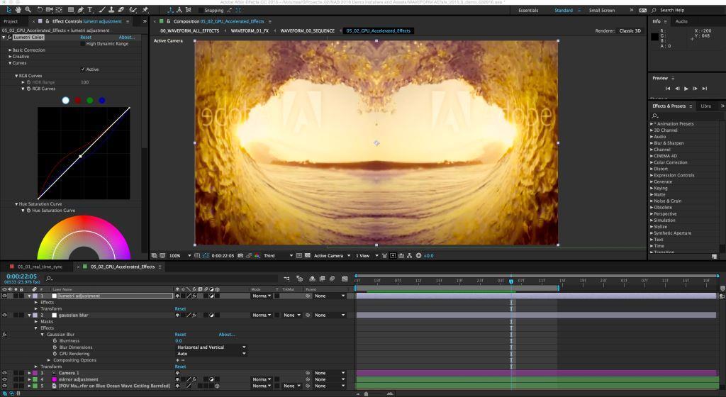 Adobe CC enhanced effects