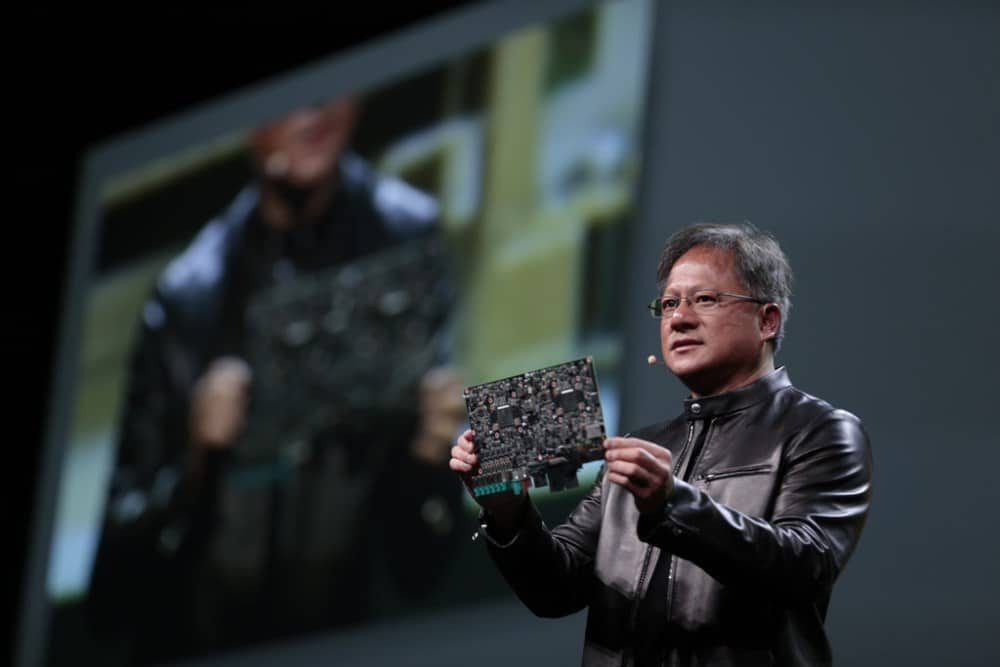 NVIDIA's CEO Huang shows DRIVE PX 2
