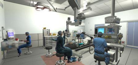 simulated operating room