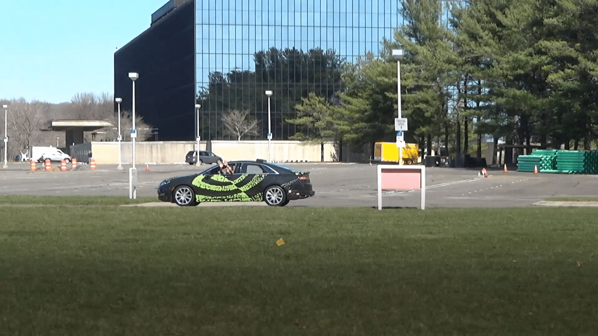 NVIDIA self-driving car, taught with deep learning