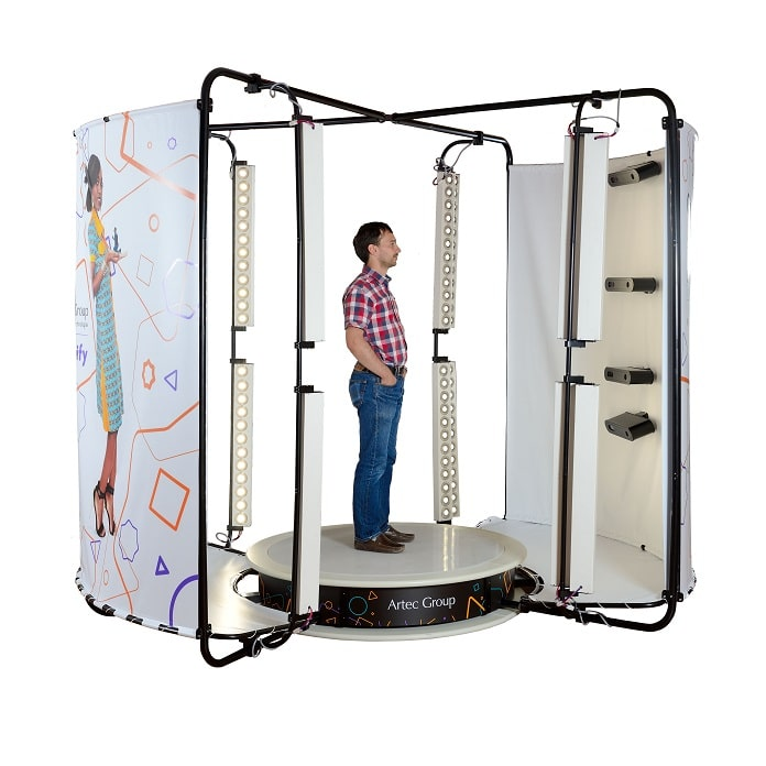 Artec3D body-scanning booth