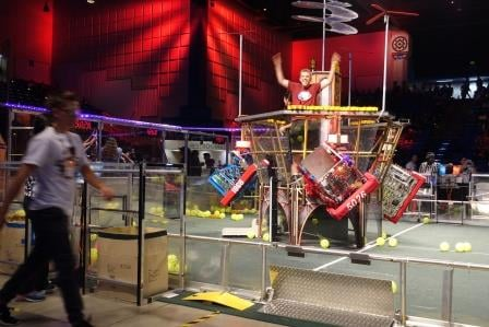 First Robotics in Silicon Valley competition heats up.