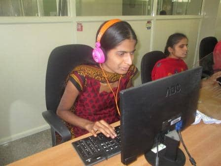 Computer training by Samarthanam Trust