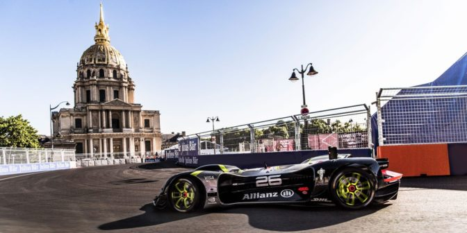 autonomous Roborace robocar at the Formula E ePrix in Paris