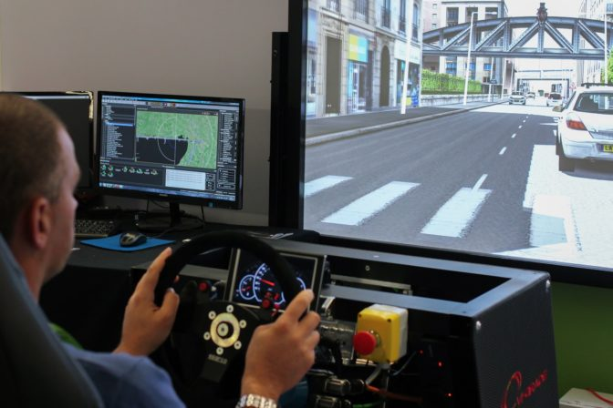 VI-grade drives a physical simulator that can be used to test lower levels of automation
