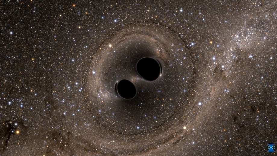 LIGO detected the collision of two black holes for the first time.