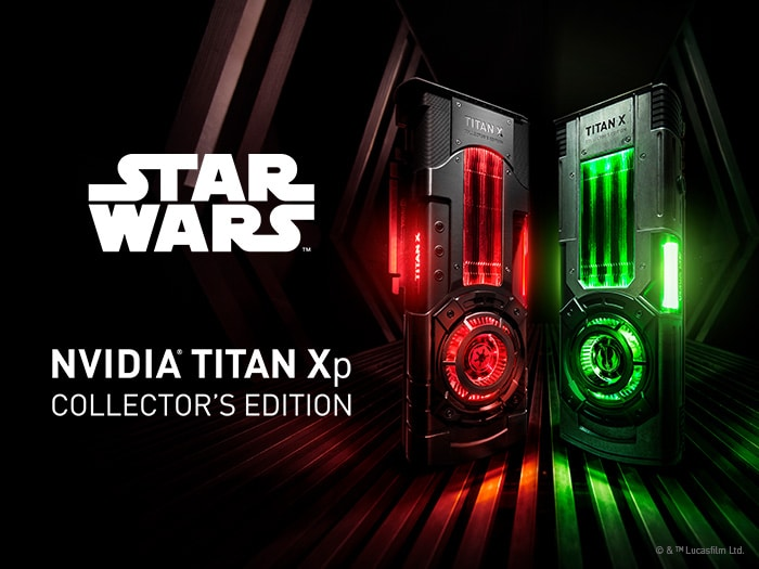 Star Wars Collector's Edition GPU - Jedi graphics card glows green; Imperial graphics card glows red