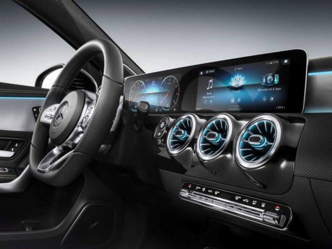 Mercedes-Benz MBUX dashboard