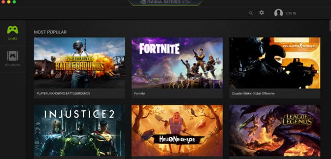 GeForce NOW game-streaming service
