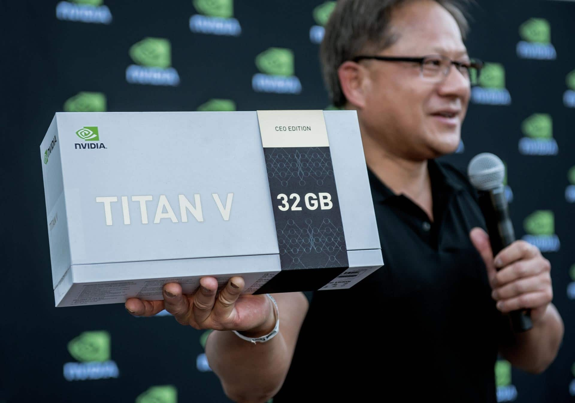 At CVPR, NVIDIA CEO Springs Special Titan V GPUs on AI Researchers
