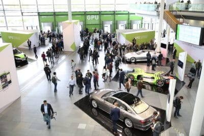 Vehicles from global automakers and startups lined the floor at last year's GTC Europe.