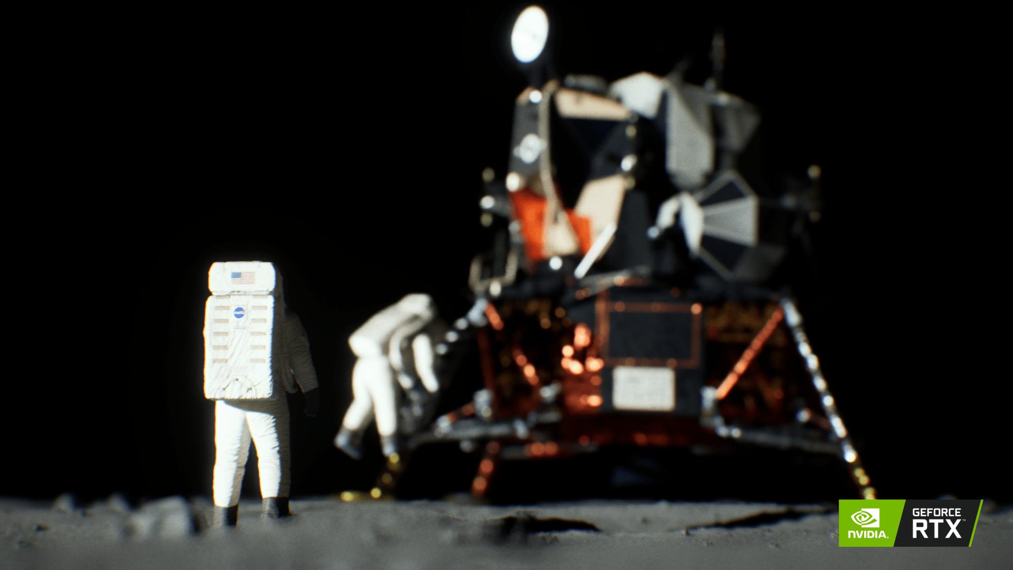 Turing Recreates Scene of Iconic Lunar Landing | NVIDIA Blog
