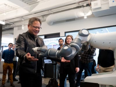 NVIDIA CEO Jensen Huang at Seattle Robotics Lab opening