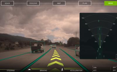 DRIVE Software 8.0 可以做到環繞感知,創造出安全自動駕駛的 AR 環境