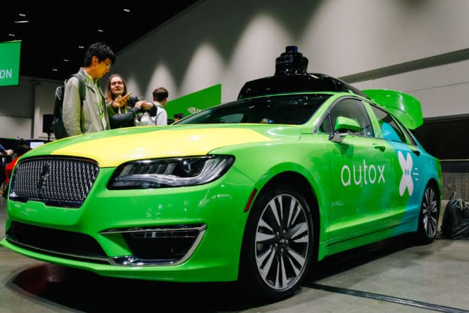 AutoX is performing self-driving delivery in a San Jose, California