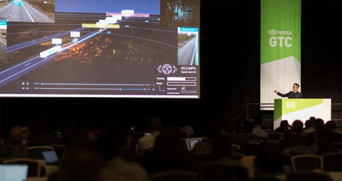 TuSimple founder and president Xiaodi Hou hosts a session on autonomous trucking at GTC 2019.