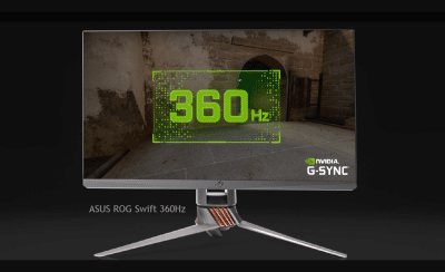 The 24-inch ASUS ROG Swift sports a 360Hz refresh rate.