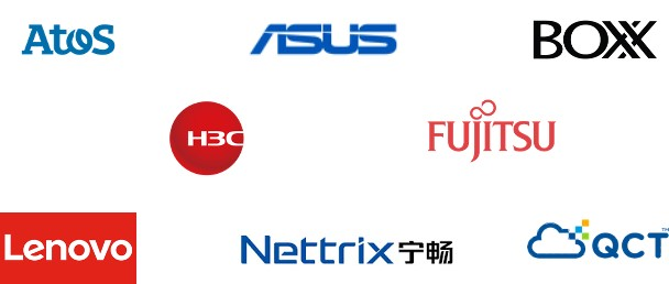 Logos of newest NVIDIA-Certified System vendors
